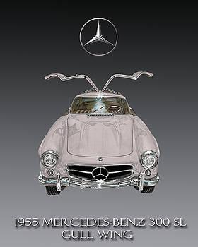 1955 Mercedes Benz Gull Wing 300 S L  by Jack Pumphrey