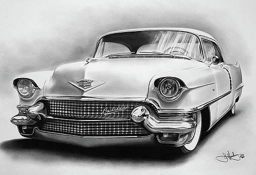 1956 Cadillac drawing by John Harding