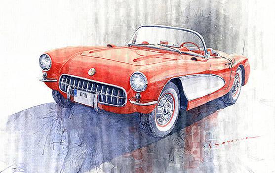 1956 Chevrolet Corvette C1 by Yuriy Shevchuk
