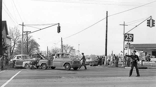 1957 Car Accident by Paul Seymour