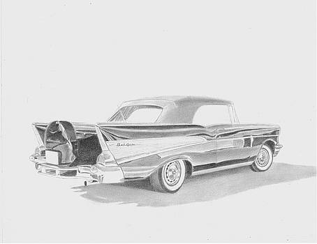 1957 Chevrolet Bel Air Convertible COMMISSION by Stephen Rooks