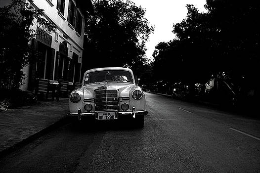 1957 Mercedes Sedan in Luang Prabang Laos by Julia Hiebaum