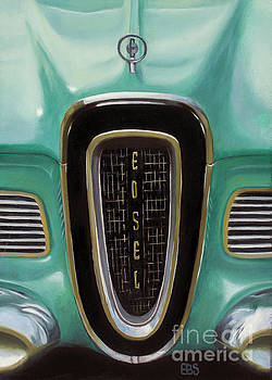 1958 Ford Edsel by Elaine Brady Smith Art by Elaine Brady Smith