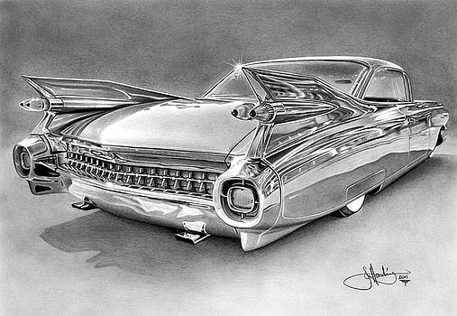 1959 Cadillac drawing by John Harding
