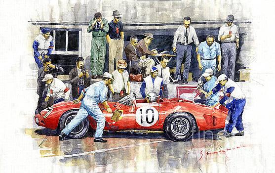 1961 Le Mans 1961 Ferrari 250 TRI Olivier Gendebien Phil Hill winner  by Yuriy Shevchuk