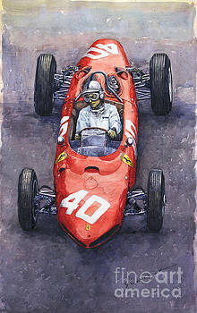 1962 Monaco GP Willy Mairesse Ferrari 156 Sharknose by Yuriy Shevchuk