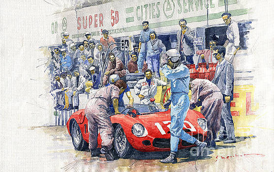 1962 Targa Florio Ferrari Dino 196SP Bandini Baghnetti by Yuriy Shevchuk