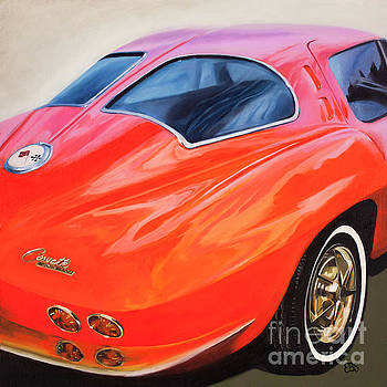 1963 Red Corvette by Elaine Brady Smith