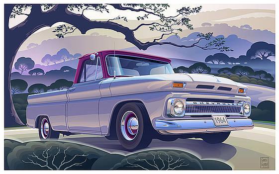 Garth Glazier - 1964 Chevrolet Short Bed Custom Half Ton in the Morning Mist