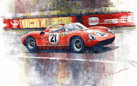 1964 LeMans 24 Ferrari 275P Ludovico Scarfiotti  by Yuriy Shevchuk