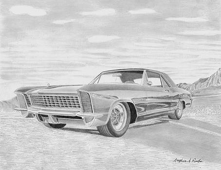 1965 Buick Riviera GS CLASSIC CAR ART PRINT  by Stephen Rooks