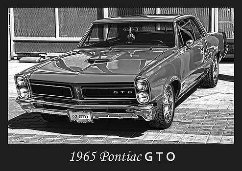 1965 Pontiac G T O bw by Bill Dutting