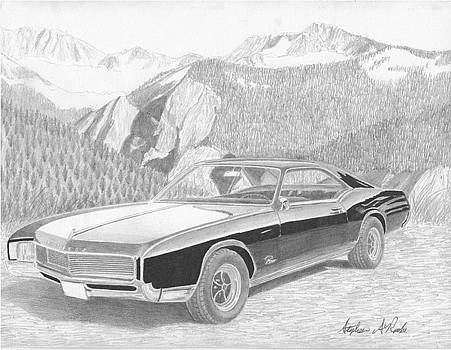 1966 Buick Riviera CLASSIC CAR ART PRINT by Stephen Rooks