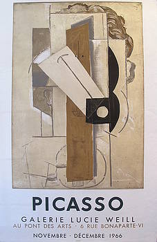 1966 Pablo Picasso Exhibition Poster, Galerie Lucie Weill by Pablo Picasso