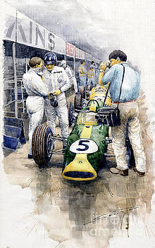 1967 Lotus 49T Ford Coswoorth Jim Clark Graham Hill by Yuriy Shevchuk