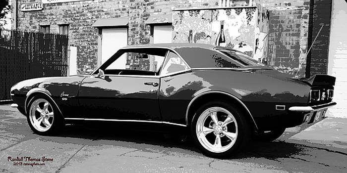 Randall Thomas Stone - 1968 Chevy Camaro Black and White