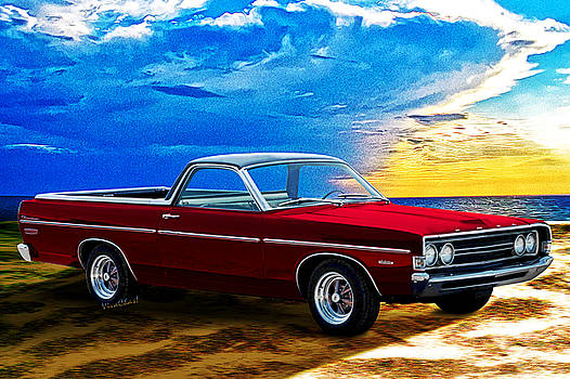 1968 Ford Ranchero Padre Island by Chas Sinklier
