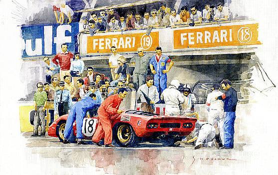 1969 Le Mans 24 Ferrari 312P Pedro Rodriguez  David Piper by Yuriy Shevchuk
