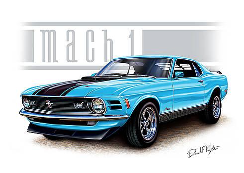 1970 Mustang Mach 1 Blue by David Kyte