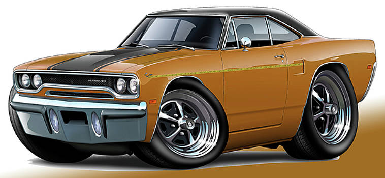 1970 Roadrunner Brown Car by Maddmax