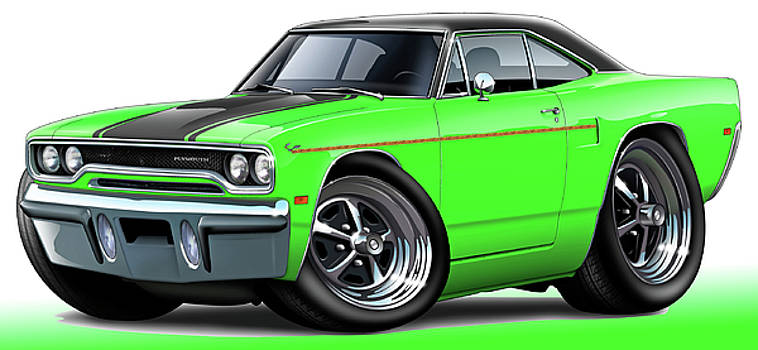 1970 Roadrunner Green Car by Maddmax