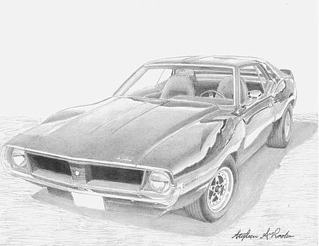 1971 AMC Javelin MUSCLE CAR ART PRINT by Stephen Rooks