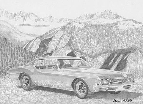 1971 Buick Riviera CLASSIC CAR ART PRINT by Stephen Rooks