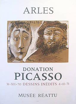 1971 Original Picasso Exhibition Poster, Arles Donation Picasso by Pablo Picasso