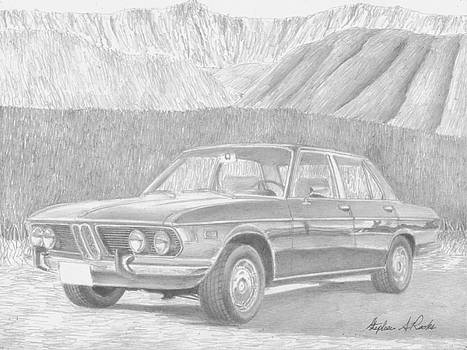1972 BMW Bavaria CLASSIC CAR ART PRINT by Stephen Rooks