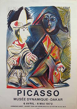 1972 Pablo Picasso Exhibition Poster, Musee Dynamique-Dakar by Picasso
