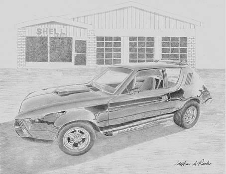 1974 AMC Gremlin CLASSIC CAR ART PRINT      by Stephen Rooks