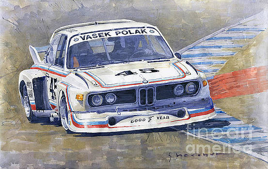 1974 Bmw 3.5 Csl  by Yuriy Shevchuk