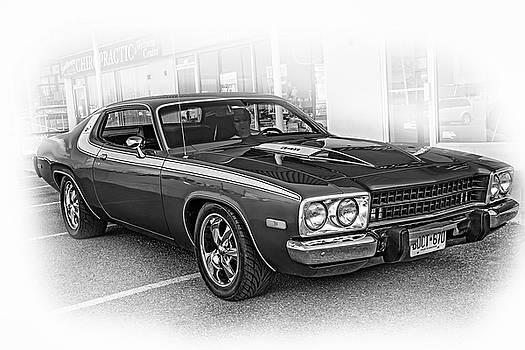 Steve Harrington - 1974 Plymouth Roadrunner - Vignette bw