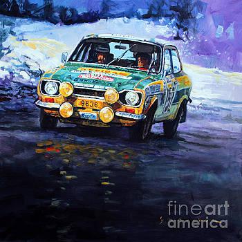 1977 Rallye Monte Carlo Ford Escort RS 2000 #152 Beauchef Dubois Keller by Yuriy Shevchuk
