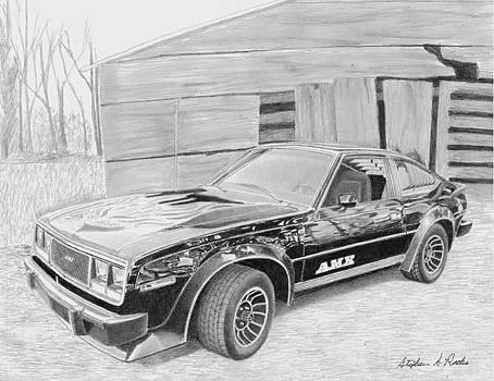 1979 Amc Amx Classic Car Art Print by Stephen Rooks