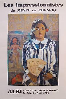 1980 Original Exhibition Poster, Les Impressionnistes du Musee de Chicago - Paul Gauguin by Paul Gauguin