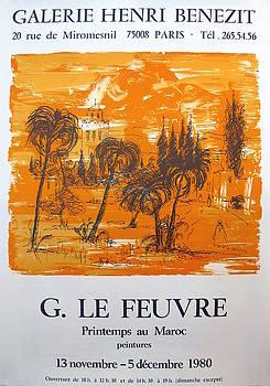 1980 Original French Exhibition Poster, Printemps au Maroc - G. Le Feuvre by G Le Feuvre