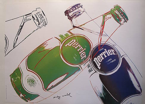 1983 Original Andy Warhol Advertisement, Perrier - Andy Warhol by Andy Warhol