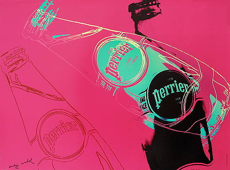 1983 Original Andy Warhol Pop Art Poster, Perrier Advertisement by Andy Warhol