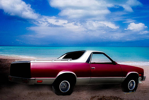 1987 El Camino 4x4 Beyond the Four Wheel-Drive Sign by Chas Sinklier