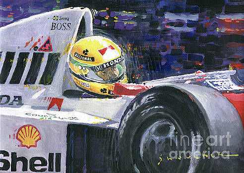 1990 Mclaren Honda Mp4 5B Ayrton Senna World Champion by Yuriy Shevchuk