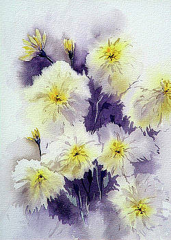1st Place Botanicals Art Exhibition - Mums by Marti White