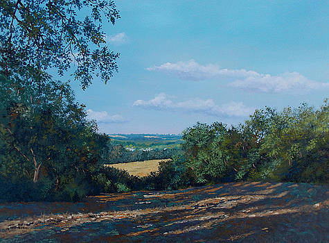 1st Place Landscapes Online Art Exhibition - Toward Bourton on the Water by Murray Ince