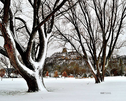 1st Snowfall with Sugarloaf by Susie Loechler