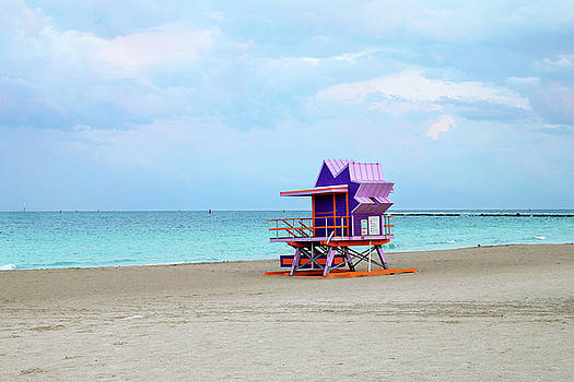 1st Street Lifeguard Tower - Miami Beach by Art Block Collections