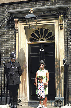 Proud Mother at 10 Downing Street by Carl Purcell