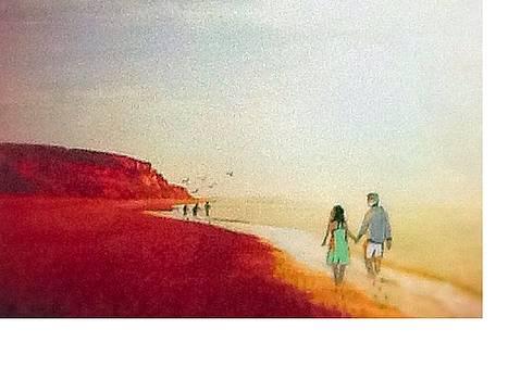 A walk on the beach by Catherine Swerediuk