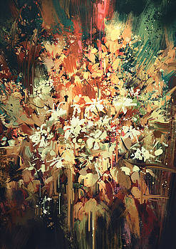 Abstract Flowers by Tithi Luadthong