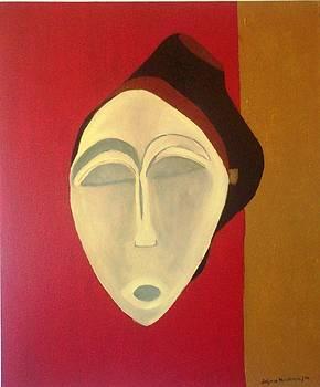 African Mask by Delfina Mendonca