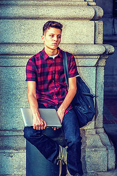 Alexander Image - American College Student relaxing on street in New York